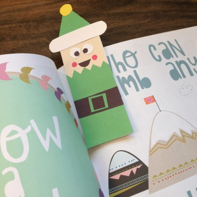 DIY Elf Holiday Bookmark | www.GigglingCaravan.com