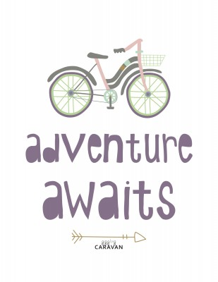 Adventure Awaits! Free Printable from GigglingCaravan.com